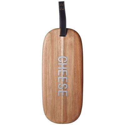 21 in. Natural Words Acacia Wood Cheese Server