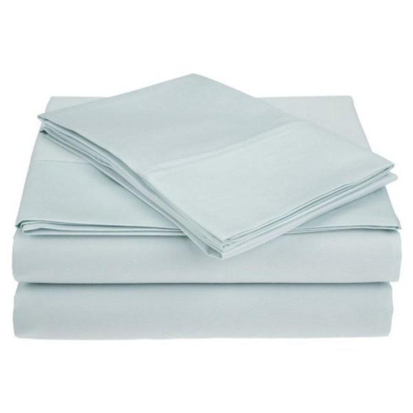 Undefined 4 Piece Sky Blue Ultra Soft 1800 Series Bamboo Bed Sheets