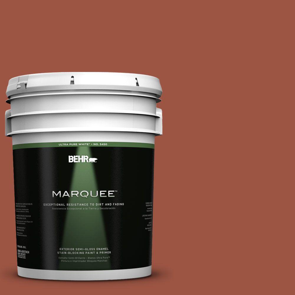 BEHR MARQUEE 5-gal. #210D-7 Firebrick Semi-Gloss Enamel Exterior Paint