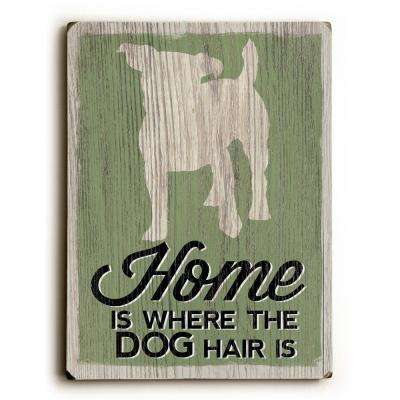 "9 in. x 12 in. ""Home is Where"" by Misty Diller Solid Wood Wall Art"