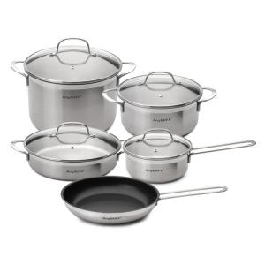 BergHOFF Bistro 9-Piece Stainless Steel Cookware Set with Glass Lids by BergHOFF