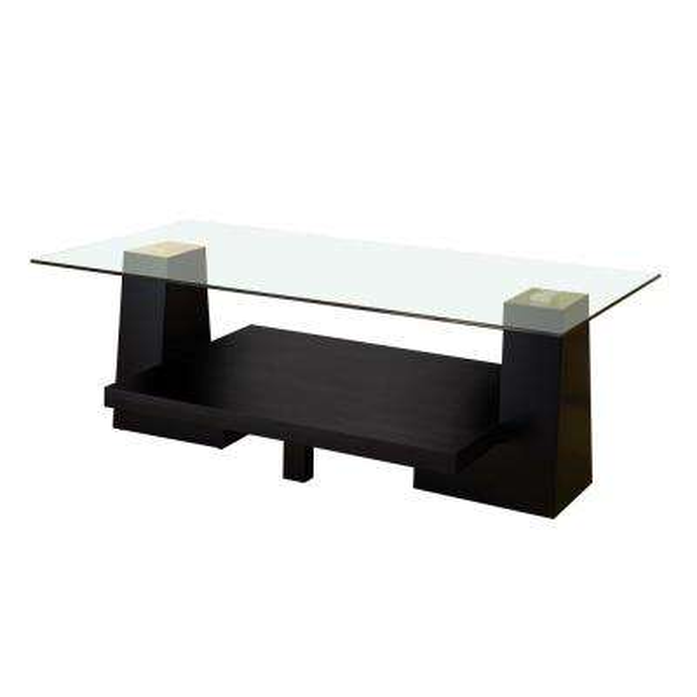 Senna Black Glass Coffee Table