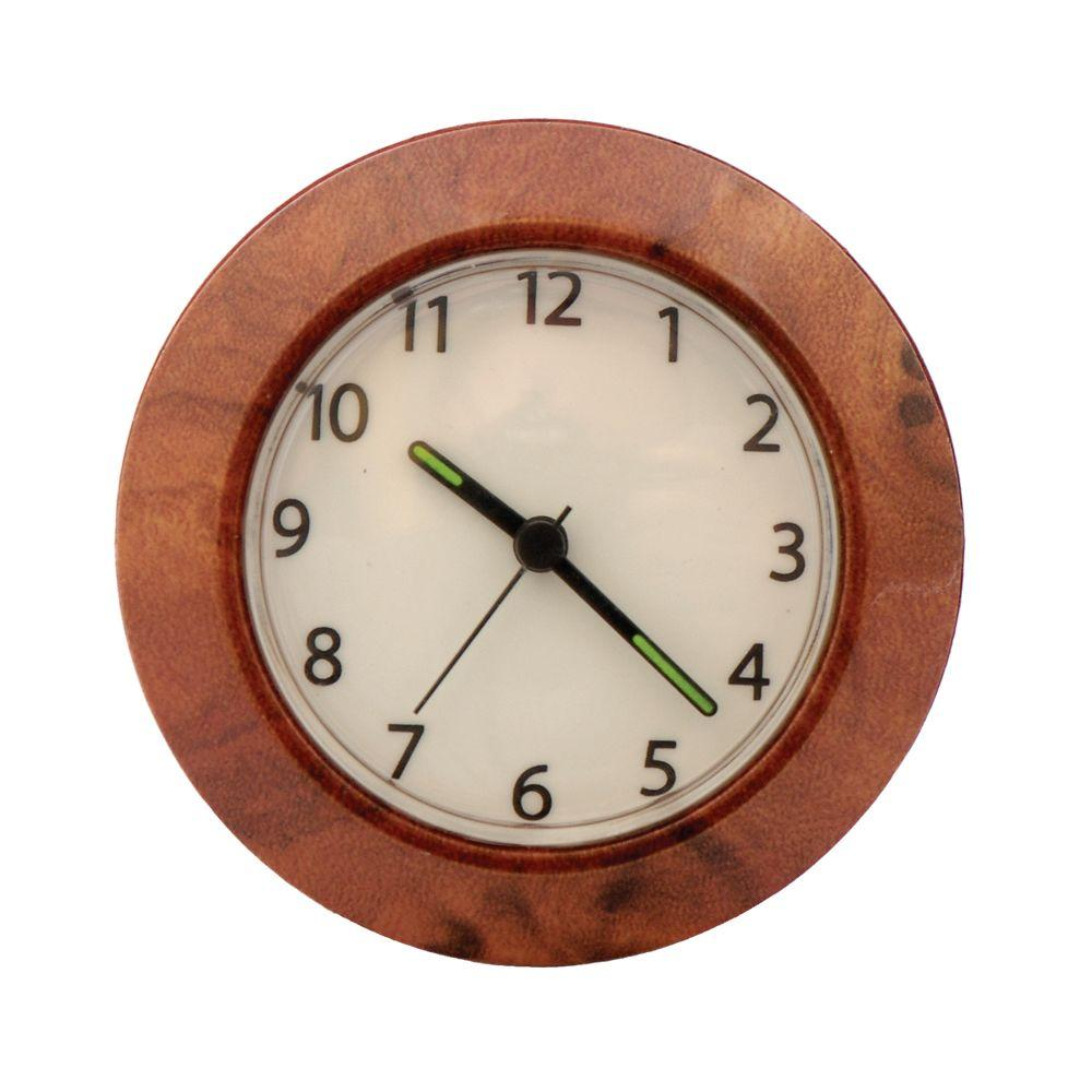 GE Always-On EL Clock Night Light in Wood Finish-DISCONTINUED