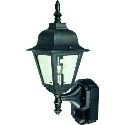 180 Degree Black Country Cottage Lantern with Clear Beveled Glass
