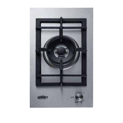 12 in. Gas Cooktop in Stainless Steel with 1-Burner