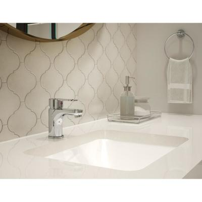 Identity Single Hole Single-Handle Bathroom Faucet with Pop-Up Drain Assembly in Chrome