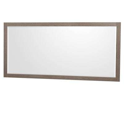 Daniella 70 in. W x 33 in. H Framed Wall Mirror in Gray Oak