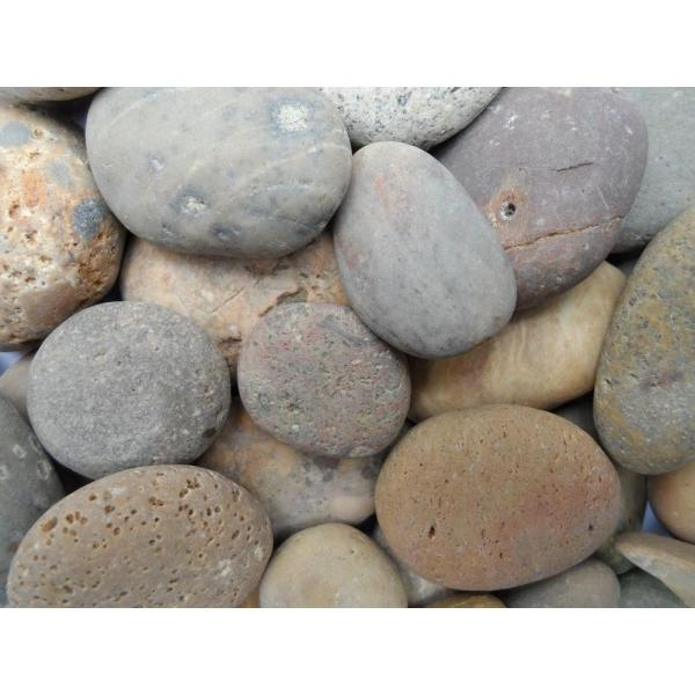 1/2 in. to 1 in. Buff Mexican Beach Pebble (500 lb. Mini Sack)