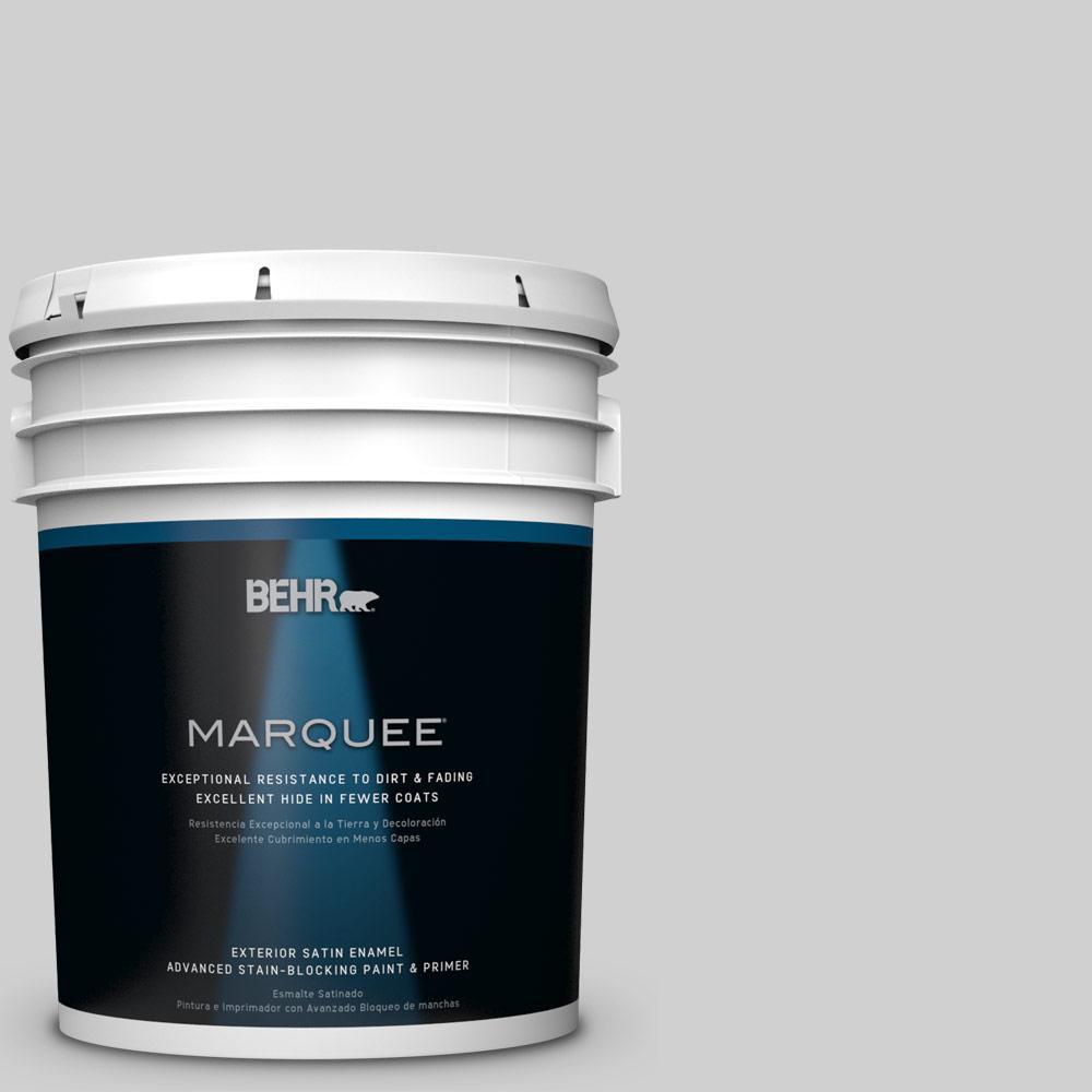 BEHR MARQUEE 5-gal. #N520-1 White Metal Satin Enamel Exterior Paint