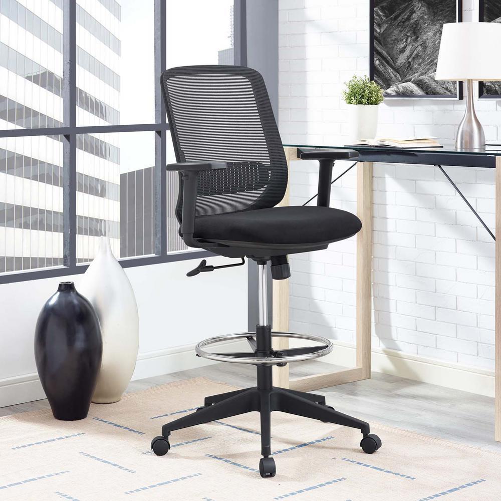Acclaim Mesh Drafting Chair in Black