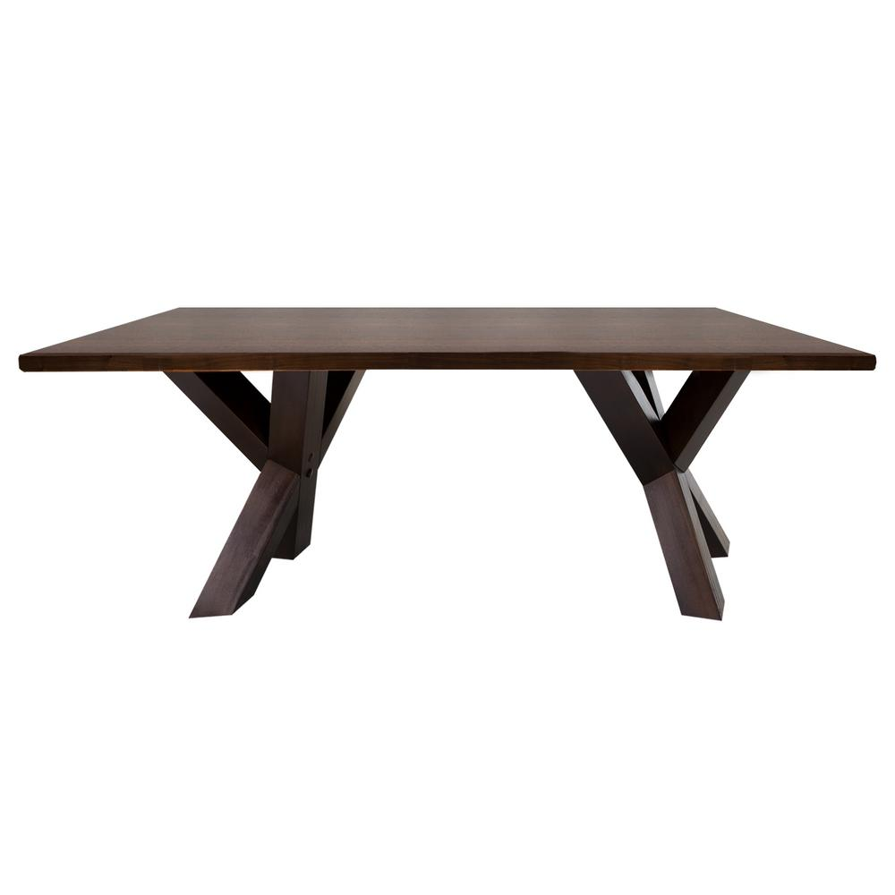 American Trails Ridgefield Natural Thick Solid Walnut Wood Top Coffee Table