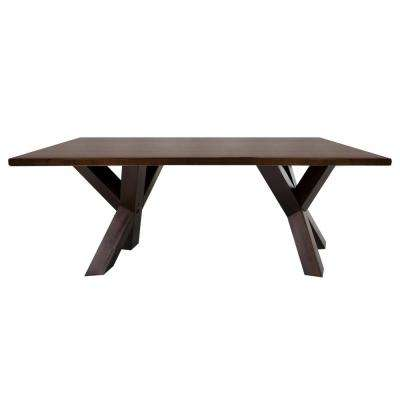 Ridgefield Natural Thick Solid Walnut Wood Top Coffee Table