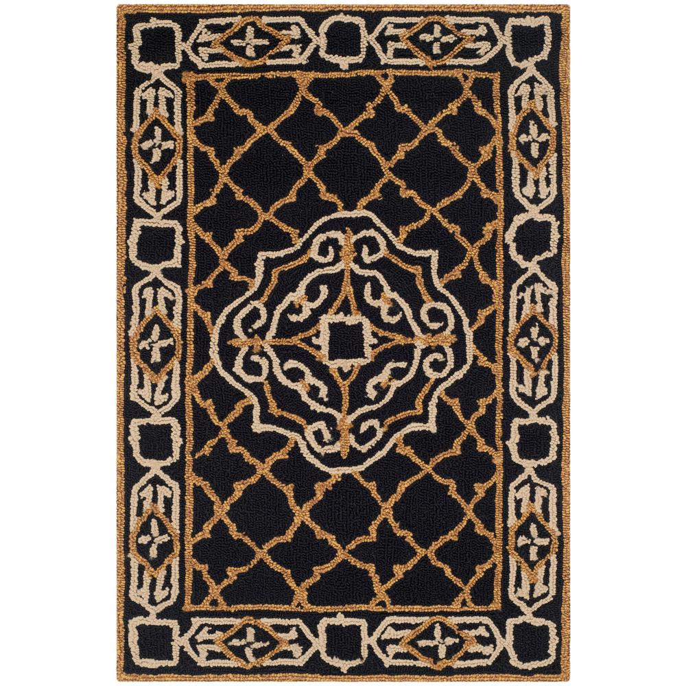 Safavieh Easy Care Black Gold 2 Ft X 3 Ft Area Rug Ezc729d 2 The