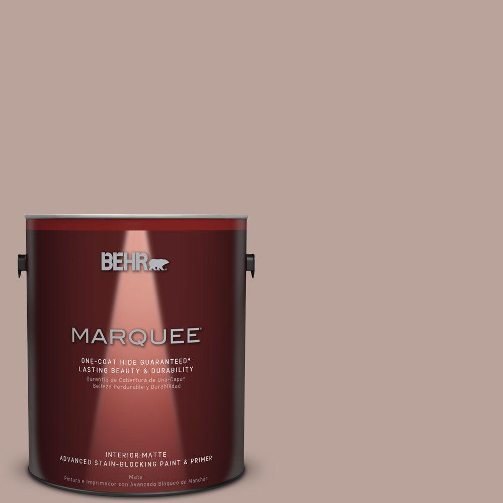 1 gal. #N150-3 Cocoa Craving One-Coat Hide Matte Interior Paint