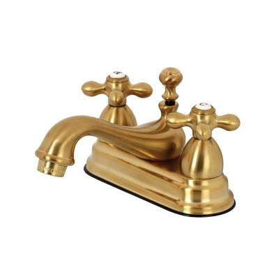 Restoration 4 in. Centerset 2-Handle Bathroom Faucet in Brushed Brass