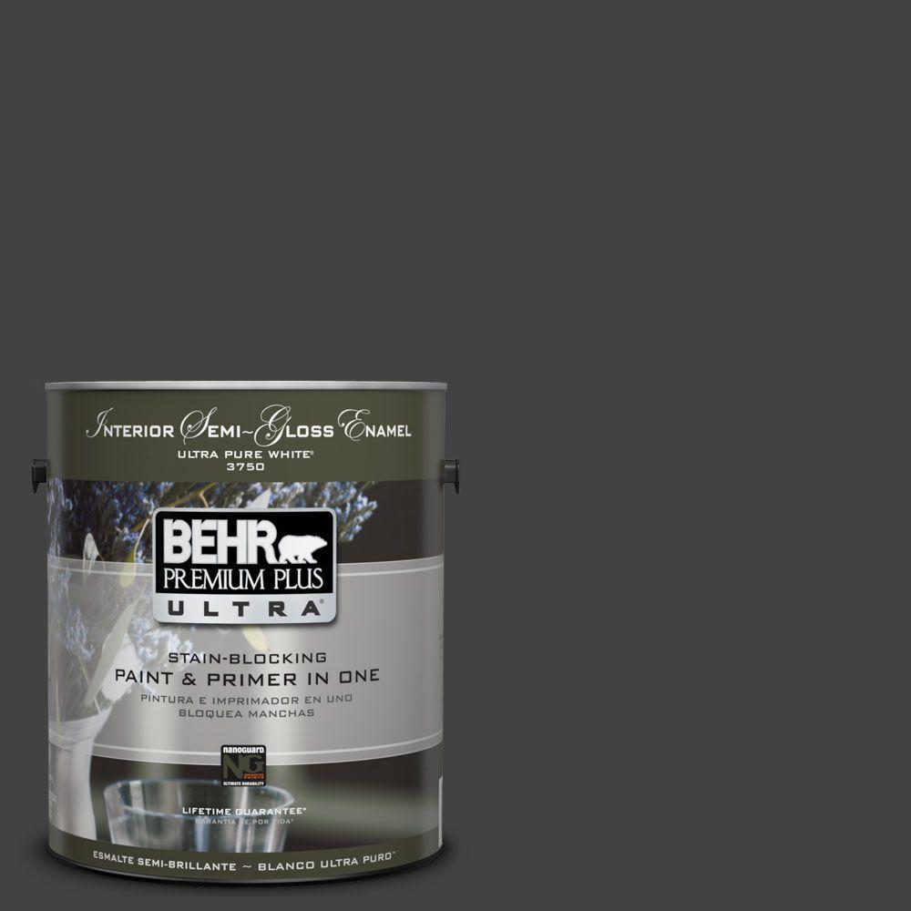 BEHR Premium Plus Ultra 1-gal. #UL200-1 Broadway Interior Semi-Gloss Enamel Paint