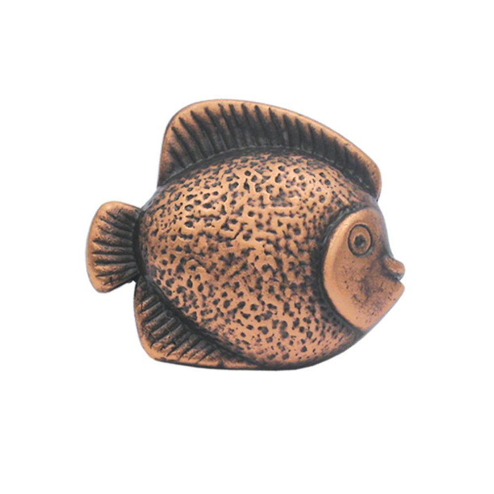1-5/8 in. Antique Copper Fish Shaped Cabinet Hardware Knob