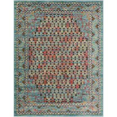 Caius Blue 5 ft. 3 in. x 7 ft. 3 in. Oriental Area Rug