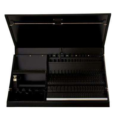 41 in. 0-Drawer Portable Workstation Top Chest in Textured Black