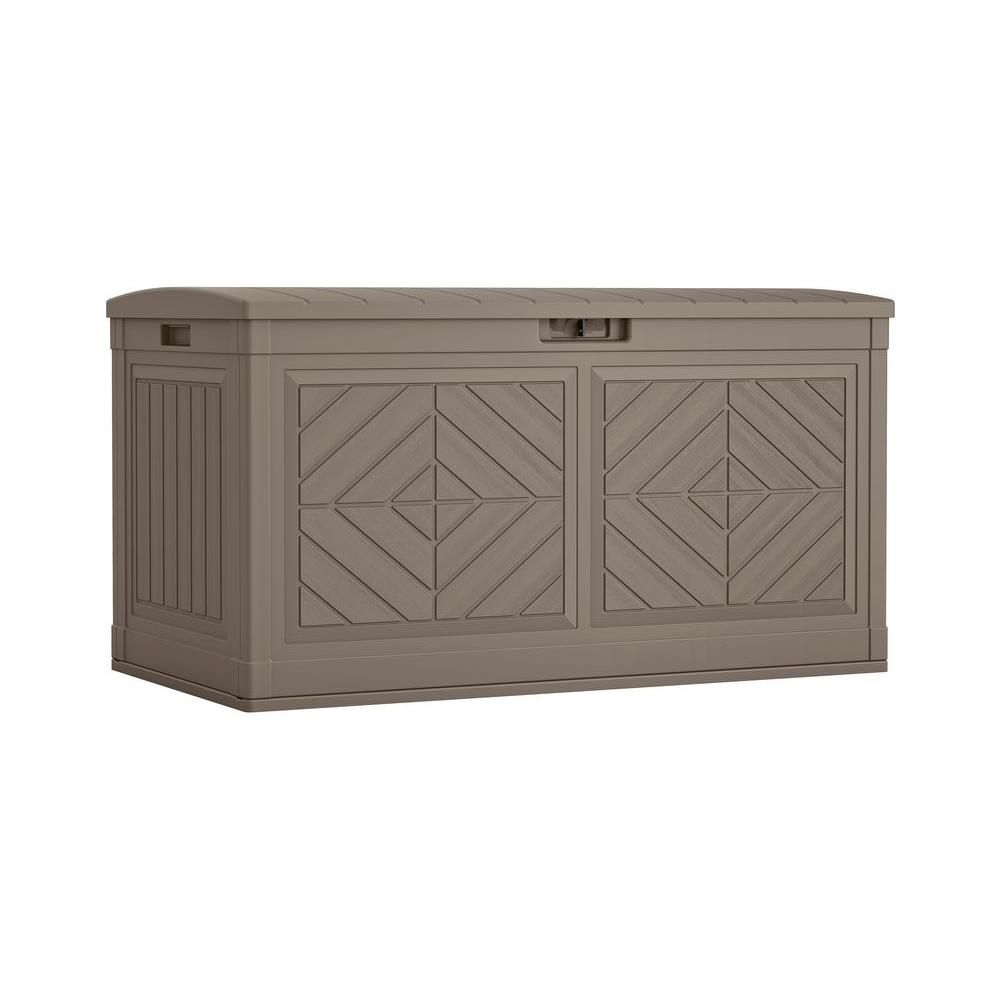 Suncast Suncast 80 Gal. Resin Deck Box, Brown