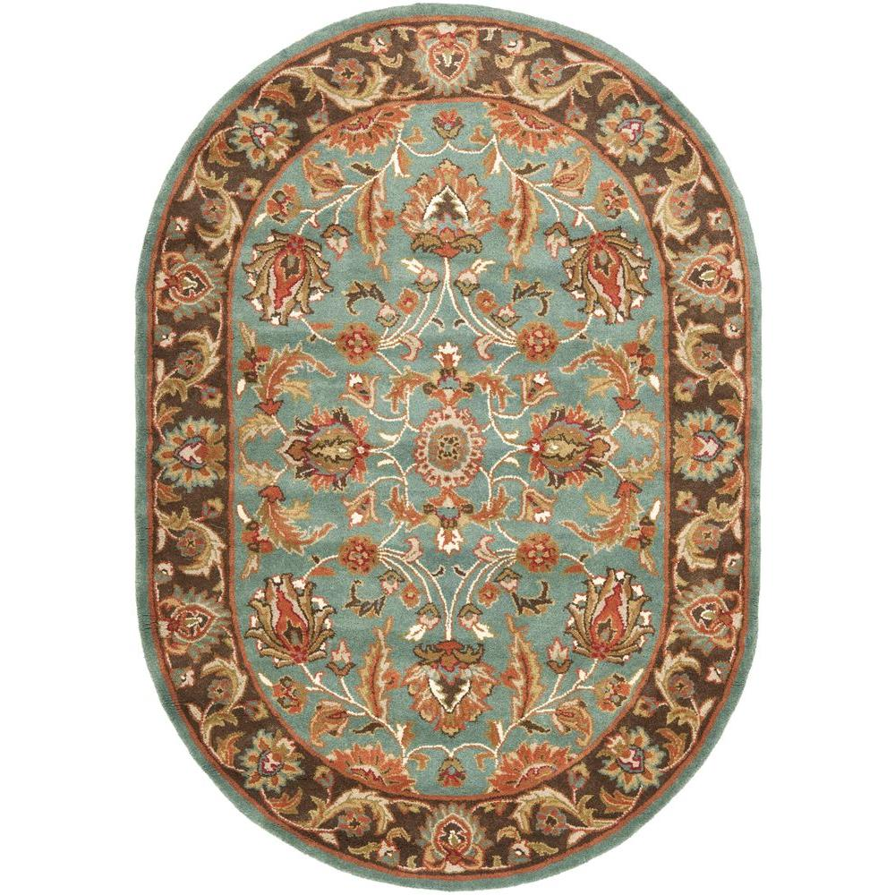 Safavieh Heritage Blue/Brown 5 Ft. X 7 Ft. Oval Area Rug