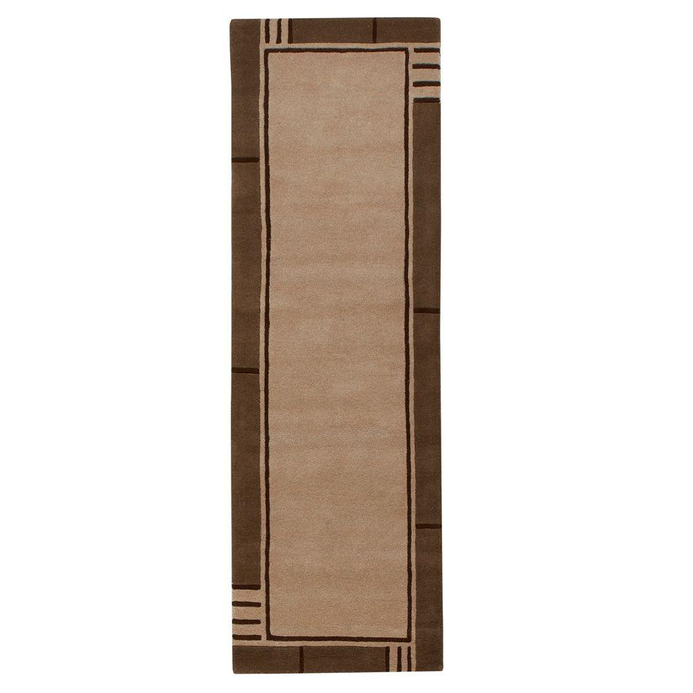 Home Decorators Collection Plaza Beige and Brown 2 ft. 6 in. x 8 ft. Rug Runner
