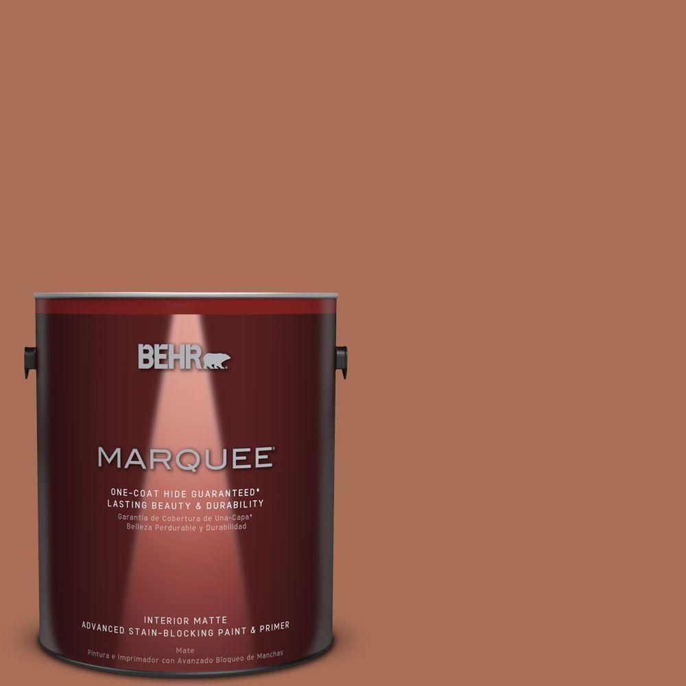 1 gal. #MQ1-28 Orange Flambe One-Coat Hide Matte Interior Paint