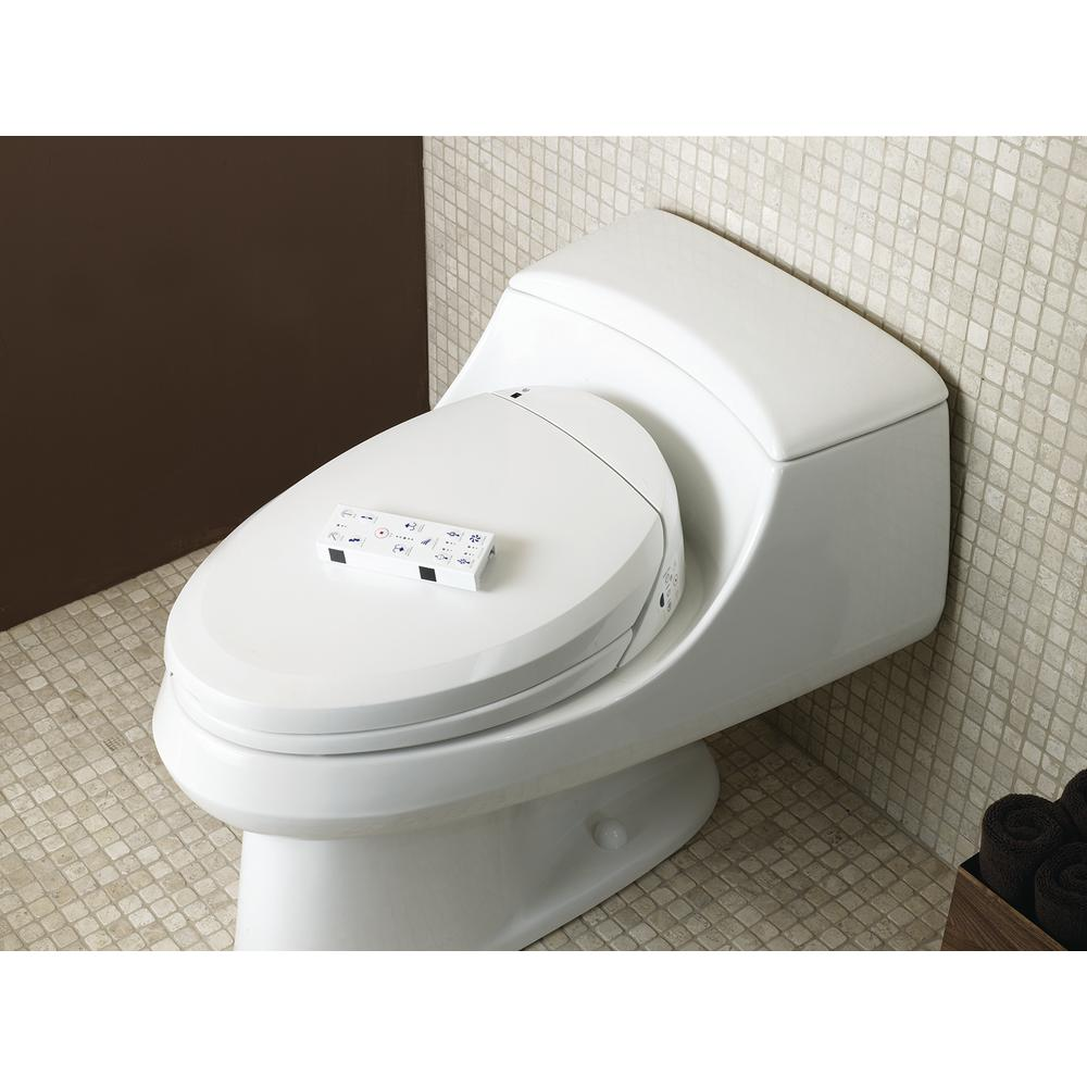 Astounding Kohler C3 200 Electric Bidet Seat For Elongated Toilets In White With In Line Heater Machost Co Dining Chair Design Ideas Machostcouk