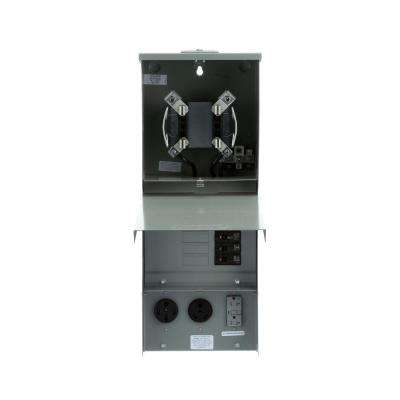 Temporary Power Outlet Panel with 20, 30, 50 Amp Receptacles Top Fed Ringless Meter Socket