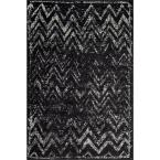 Blair Fading Chevrons Black 8 ft. x 10 ft. Area Rug