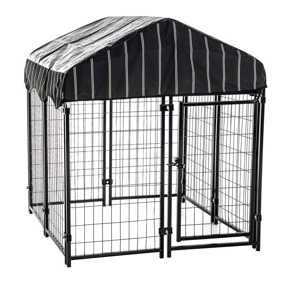 Lucky Dog 52 in. H x 4 ft. W x 4 ft. L Pet Resort Kennel with Cover