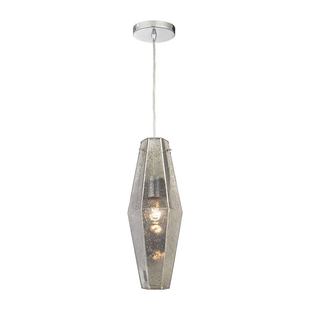 Titan Lighting Pelham 1-Light Polished Chrome Pendant