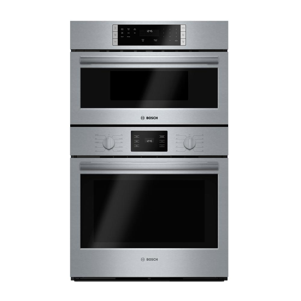 Bosch 500 Series 30 In Combination Electric Wall Oven With European Convection And Microwave