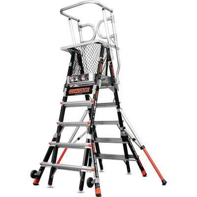 5 ft.-9 ft. Fiberglass 375 lbs. Rated Type IAA Adjustable Safety Cage