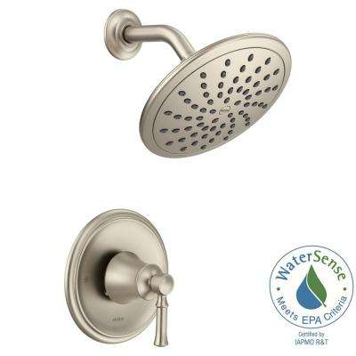 Dartmoor Posi-Temp Rain Shower 1-Handle Shower Only Faucet Trim Kit in Brushed Nickel (Valve Not Included)