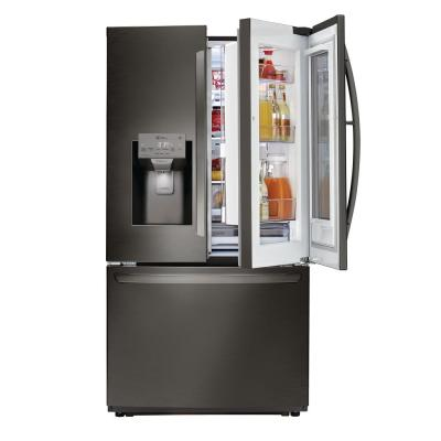 26 cu. ft. 3-Door Smart French Door Refrigerator with InstaView Door-in-Door in Black Stainless Steel