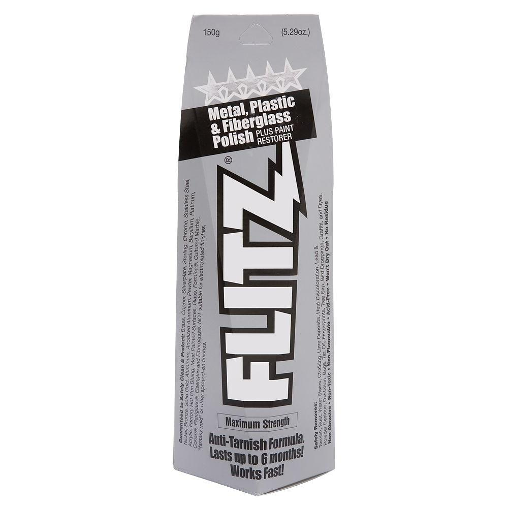 Flitz 5.29 oz. Blue Metal, Plastic and Fiberglass Polish Paste Boxed ...