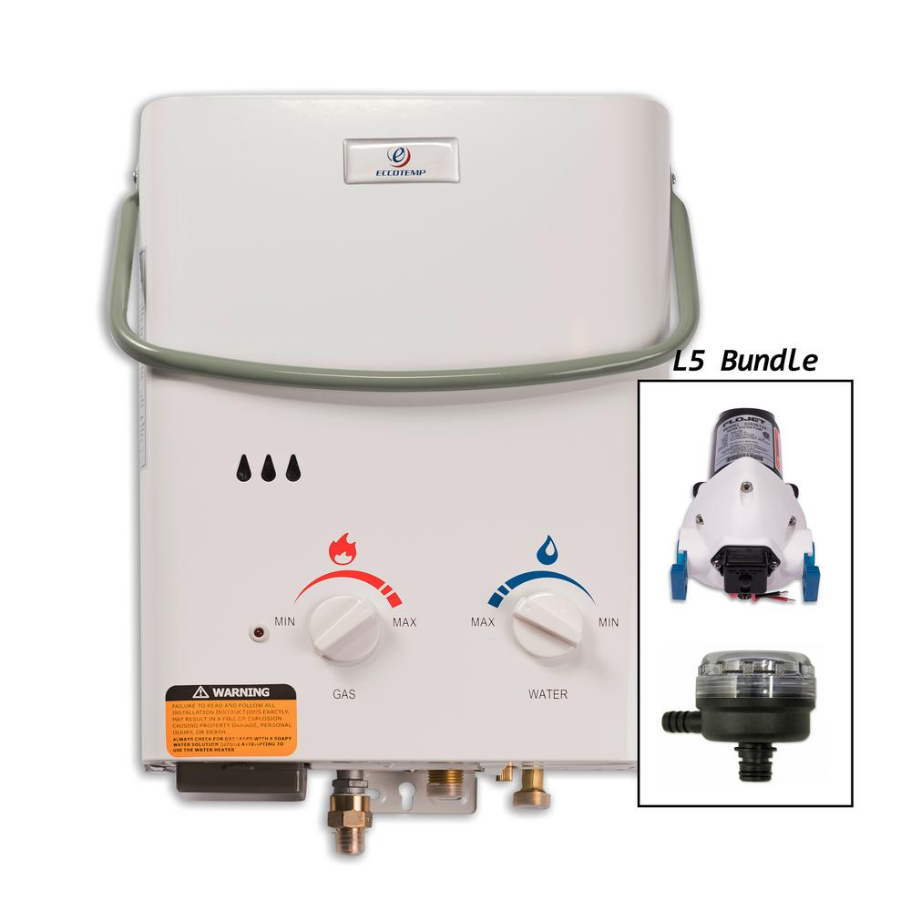 Eccotemp L5 Tankless Point-Of-Use Water Heater with Floje...