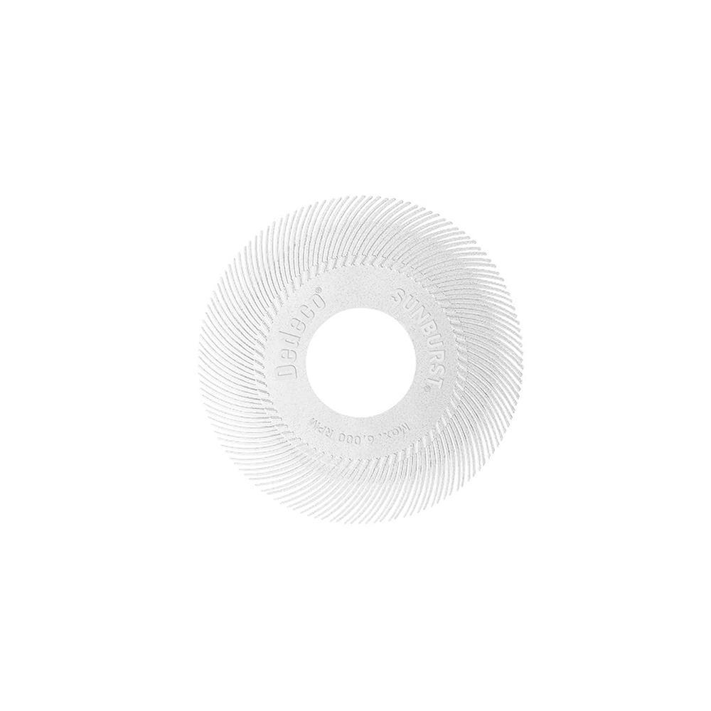 Dedeco Sunburst - 6 in. TC Radial Discs - 1 in. Arbor - Thermoplastic Cleaning and Polishing Tool, Medium 120-Grit (40-Pack)