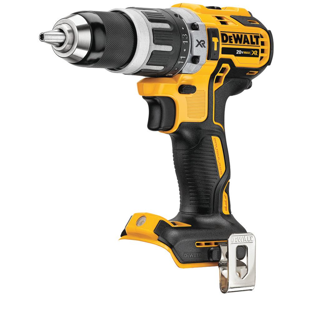 DEWALT 20-Volt MAX Brushless Cordless 1/2 inch Compact Hammer Drill (Tool-Only)