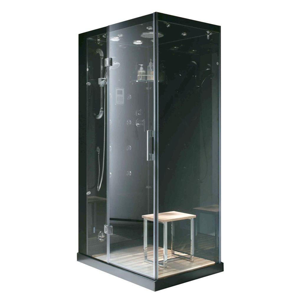Steam planet jupiter plus 43 in x 31 in x 86 in steam for Build steam shower
