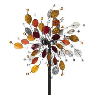 24 in. Rotating Wind Spinner Jeweled Metallic