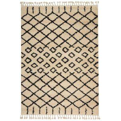 Moroccan Shag Cream 5 ft. 3 in. x 7 ft. 11 in. Area Rug