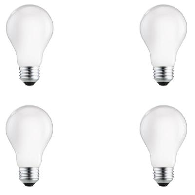 75-Watt Equivalent A19 Dimmable Energy Efficient Halogen Light Bulb Soft White (2750K) (4-Pack)