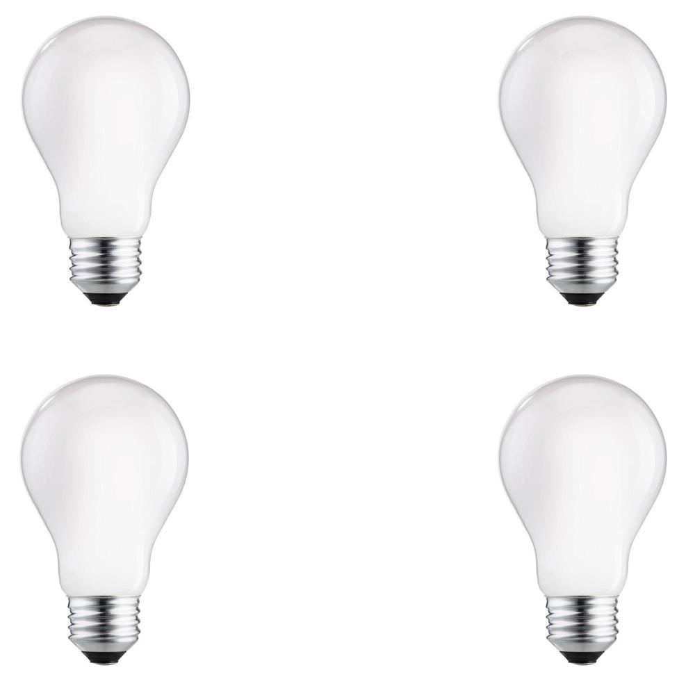 75-Watt Equivalent A19 Halogen Long Life Light Bulb (4-Pack)