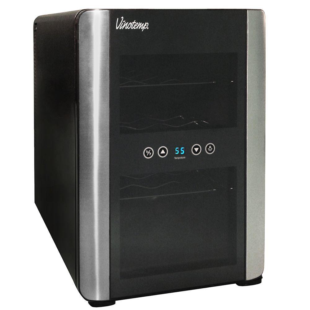 Vinotemp iCellar 12-Bottle Black Wine Cooler