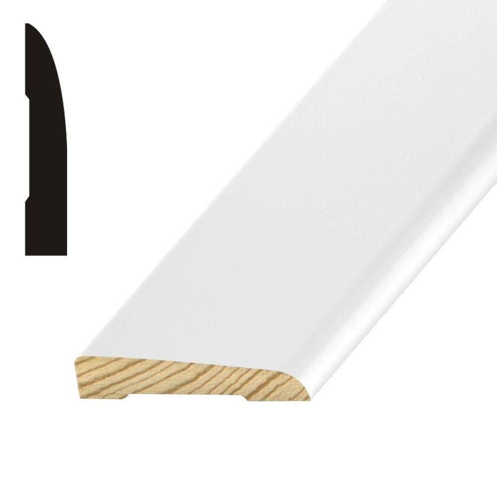 OP005 1/2 in. x 2-1/2 in. Primed Finger-Jointed Pine Base Moulding