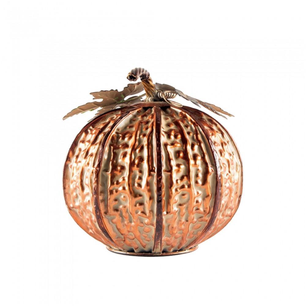 9 in. H Small Copper Pumpkin