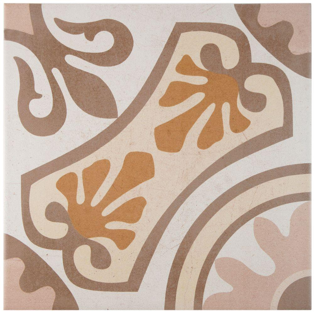 Merola Tile Sofia Beige 13 in. x 13 in. Ceramic Floor and Wall Tile (15.5 sq. ft. / case)