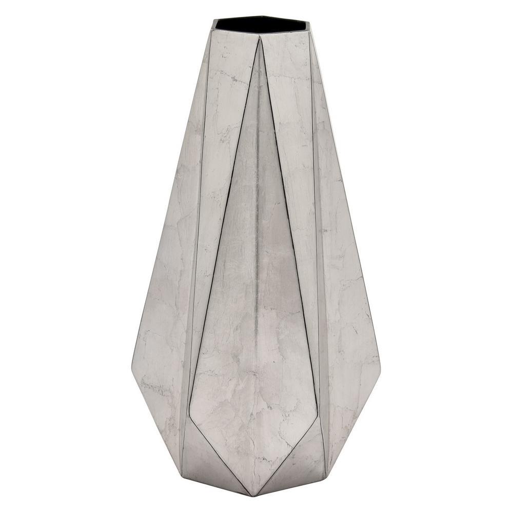 21.5 in. Silver Ceramic Vase